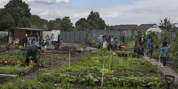 MP's Visit to St Margarets Road Allotment Site
